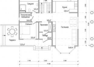 Одноквартирный двухэтажный жилой дом